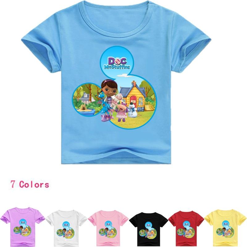 Z&Y 2-16Years Baby Girl Tops 2018 Doc Mcstuffins Costume T Shirt Boy Baby Summer Clothes Children T-shirt Nununu 2018 Kids Tales