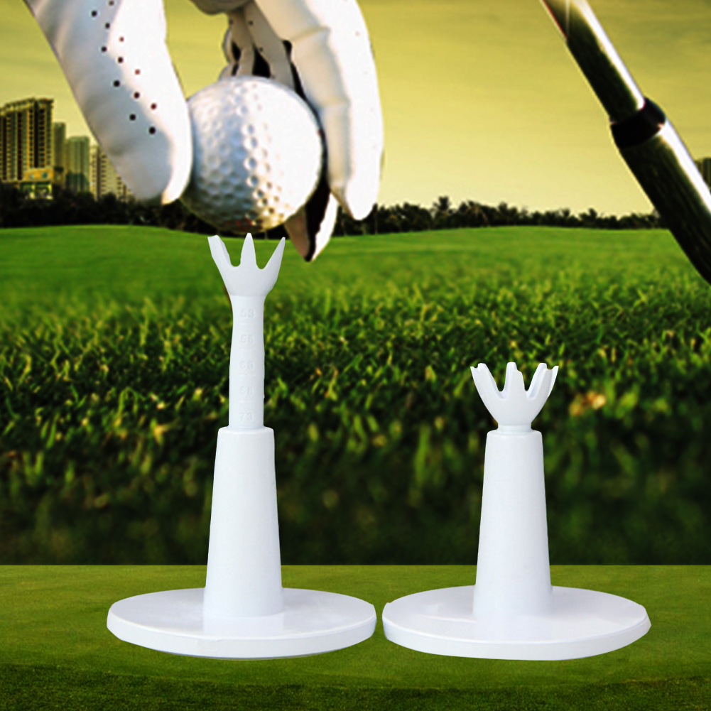 2Pcs/pack Driving Range Outdoor Training Aids Adjustable Height Holder Practice Durable Golf Tee Ball Sport Low Friction Rubber