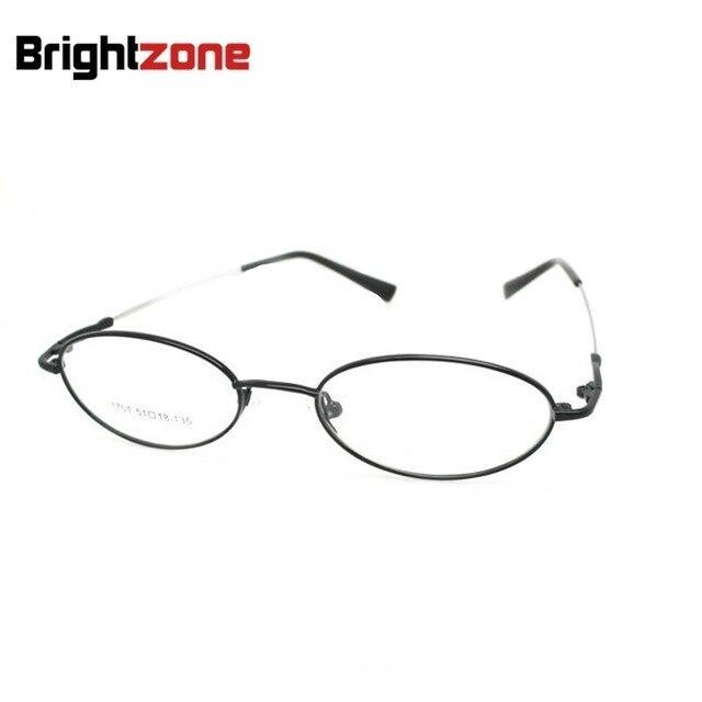 a08e40ec34405 O Envio gratuito de Forma Oval de Metal Cheia Rosto Pequeno B1701 oculos de  grau Prescrição