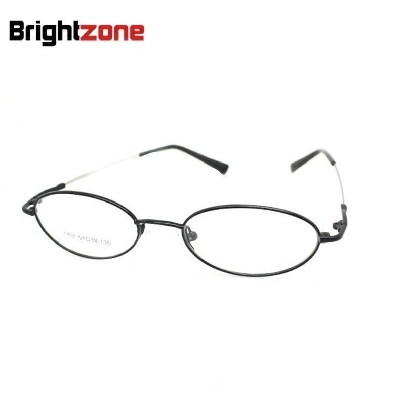 O envio gratuito de forma oval metal cheio pequeno rosto prescrição óculos ópticos quadro b1701 óculos de olho grau
