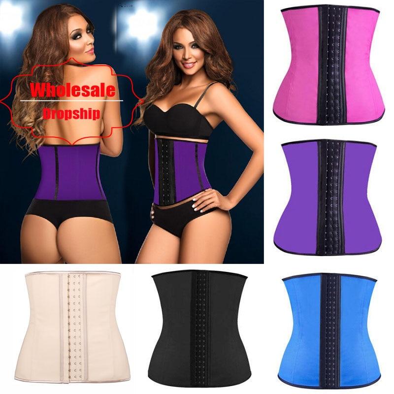 NINGMI Rubber Body shaper for women sexy lady Shapewear Waist Trainer Cincher loseweight Shaper Burning Slim Belt Corset Bustier 1