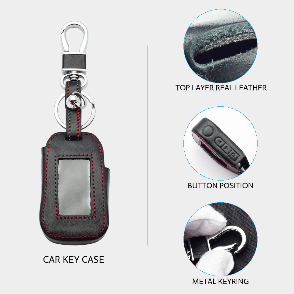 Image 2 - ATOBABI Leather Key Case For StarLine A92 A94 A62 A64 A95 Two Way Car Alarm LCD Remote Control Transmitter Keychain Cover Bag-in Key Case for Car from Automobiles & Motorcycles