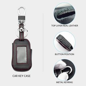 Image 3 - Lederen Sleutel Case Voor Starline A92 A94 A62 A64 A95 Twee Weg Auto Alarm Lcd Afstandsbediening Zender Sleutelhanger Protector cover Bag