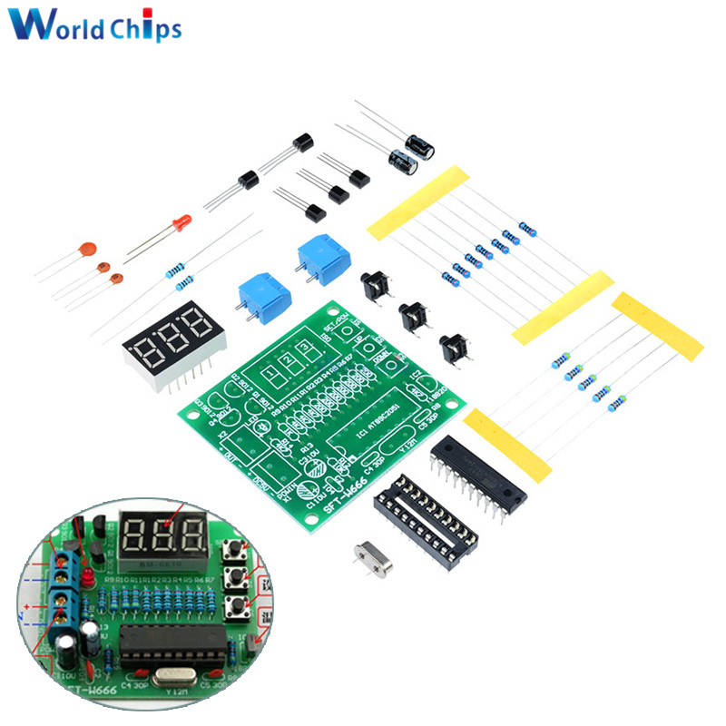 Digital Temperature Controller Circuit Diagram 2001 Honda Crv Fuse Box Detail Feedback Questions About Diy Kits At89c2051 Ds18b20 Kit Led Alarm 5v Dc Microcontroller Design Thermometer Electronic