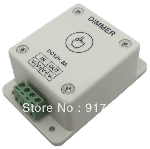Free Shipping led flexible strip light controller - led light touch white dimmer DC 12V 8A !