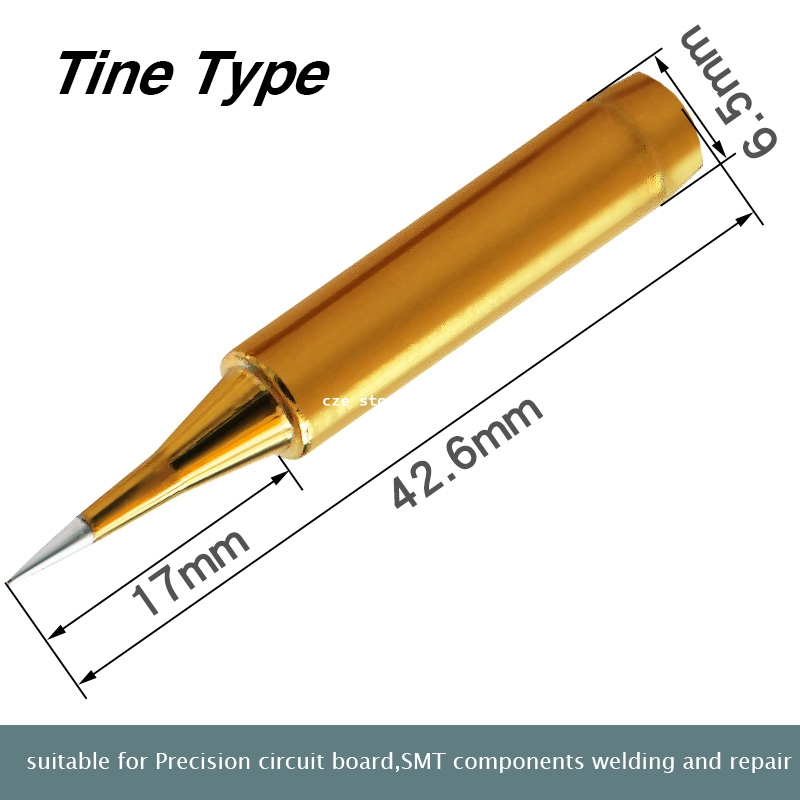 Image 5 - Free Shipping High Quality Replacement Soldering Iron Tip Leader Free Solder Tip Inner Gold Color Sold By 1 Pc-in Electric Soldering Irons from Tools