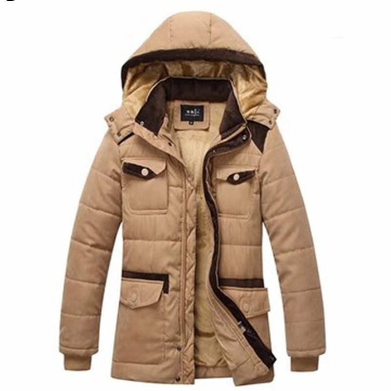Winter Jacket Mens Fashion Casual Thick Warm Cotton Coat Hooded Trench Coat Men 39 s Outwear Parka Windbreak Snow Military Jackets in Jackets from Men 39 s Clothing