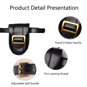 Image 4 - Womens Waist Bag Fanny Pack Serpentine Belt Bags hip package Fashion Bum Packs High Quality Female Waist Pack Mobile Phone Bag