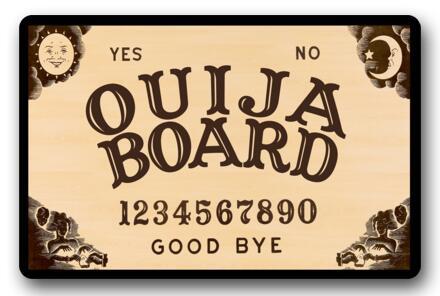 Custom Ouija Board Doormats Good Bye Cushion Ouija Board Carpet Yellow Bathroom Rugs Kids Christmas Bedroom Decoration #D-209#