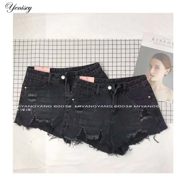 סקסי בציר מיני קצר ג 'ינס מכנסיים קצרים חמוד ביקיני ג' ינס קצר חם Vestidos סקסי מועדון המפלגה תחתון 6003-3