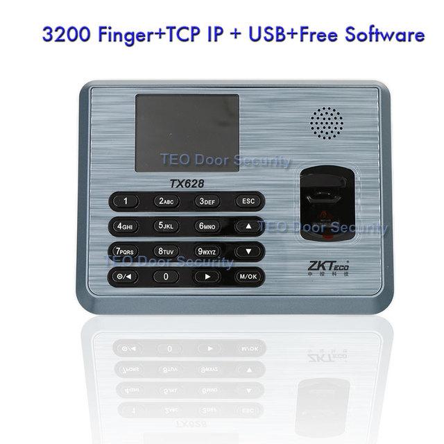 3200 Usuarios TCP IP Biométrico de Huellas Dactilares de Asistencia Reloj de Tiempo Empleado Biométrico USBRS232/485 ZKTeco TX628
