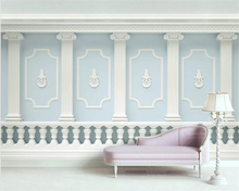 Beibehang Custom photo wallpaper mural 3d carved carved Roman column railing fashion European TV background wall 3d wallpaper beibehang peony flower roman column european style 3d tv wall wall painting home decorative mural wallpaper for walls 3 d