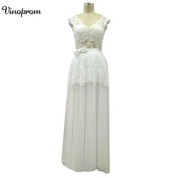 Vestido V-Neck Vinoprom Formatura Bridal Strapless Sleeveless WhiteLong Prom Dress Custom Party Formal Evening Gown