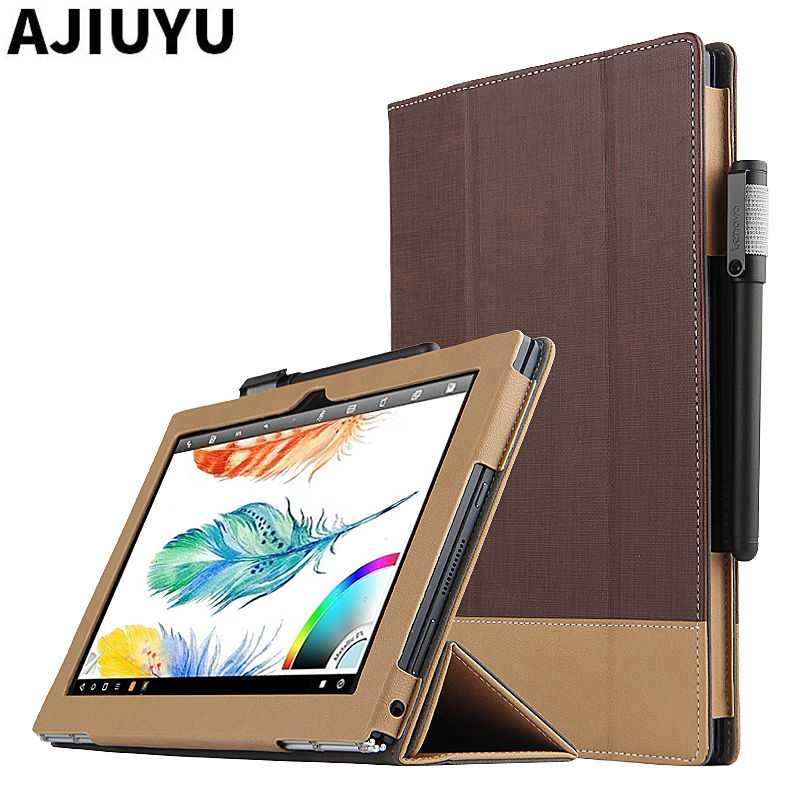 For Lenovo YOGA BOOK Case Protective Shell Smart Cover Leather yogabook Tablet For yoga book 10.1 inch PU Protector Sleeve Case smart cover silk print protective leather case cover for 8 inch lenovo yoga b6000 tablet pc gift screen protector pen stylus