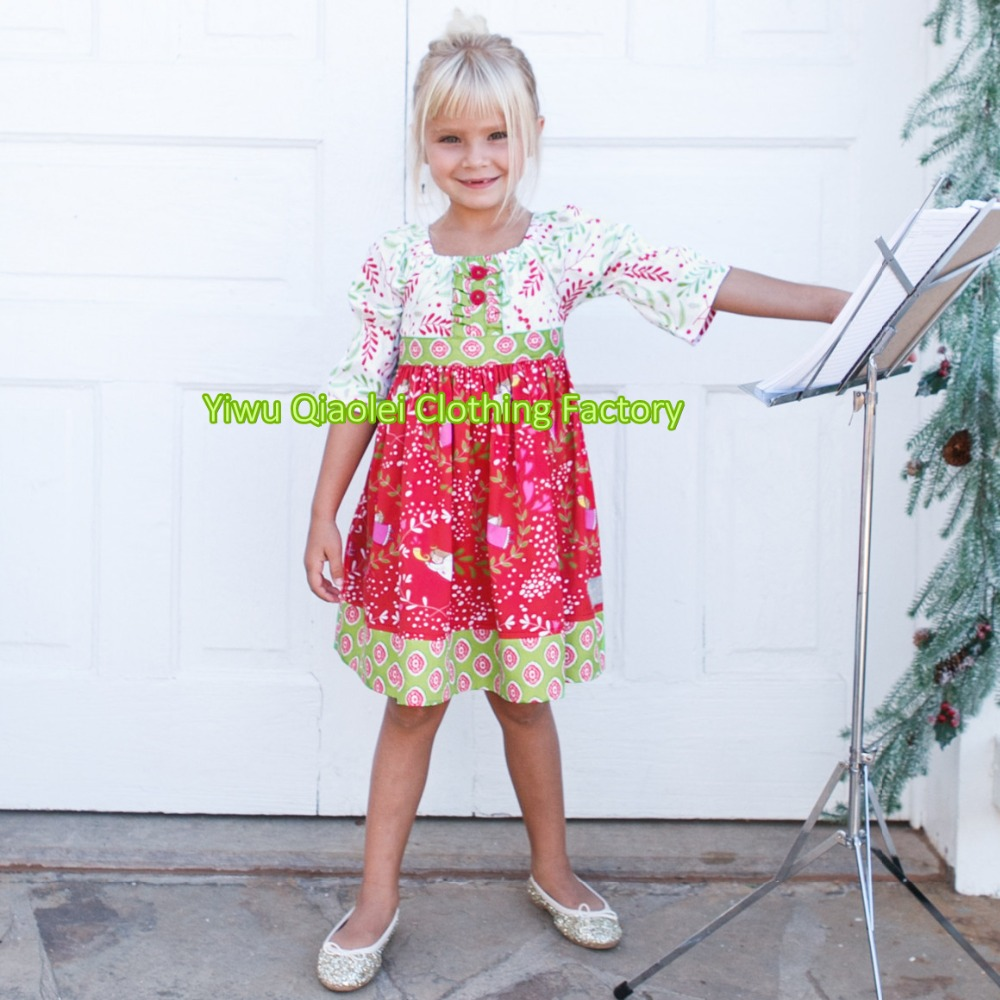 Christmas dress boutiques - Christmas Childrens Boutique Clothing Fall 2016 Latest Red Dress Wholesale Girls Clothes