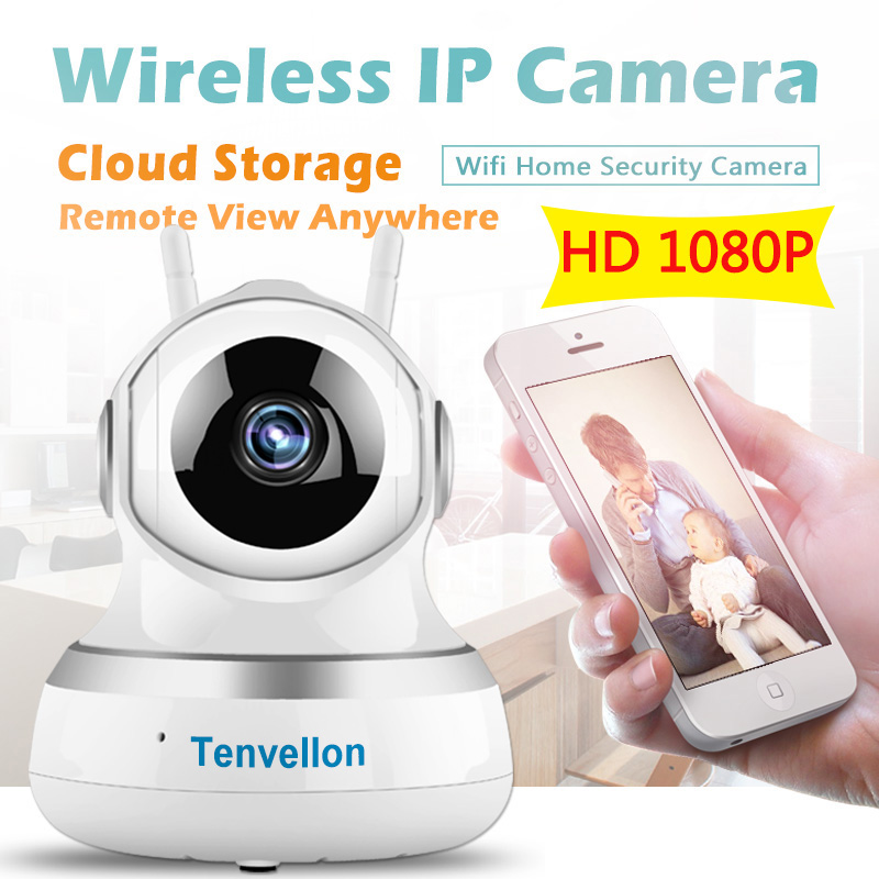 Tenvellon WiFi IP Camera 1080P CCTV Security Cameras Home Video Surveillance Security Wireless Network camaras de seguridad