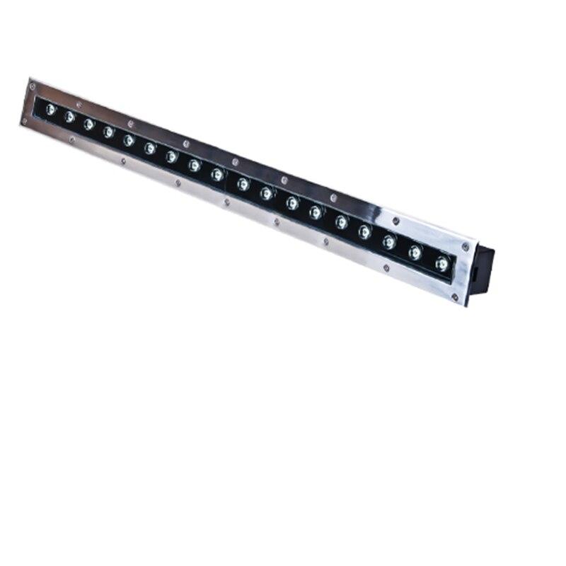 Бесплатная доставка, 100 см светодиодный подземный светильник 18 Вт, встраиваемый настенный светильник IP67, светодиодный светильник для подзе