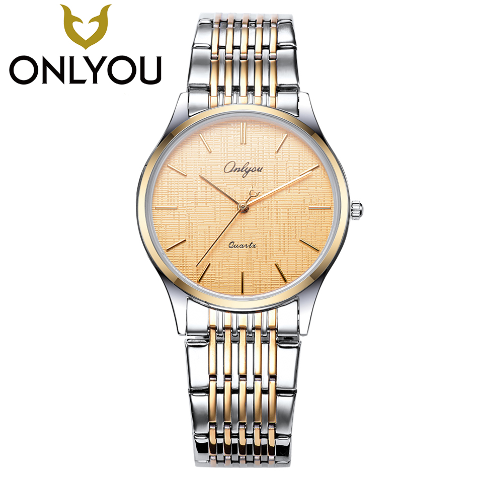 ONLYOU Hot Fashion Creative Watches Women Men Quartz-Watch 2017 Brand Unique Dial Design Lovers' Watch Stainless Steel Clock onlyou luxury brand fashion watch women men business quartz watch stainless steel lovers wristwatches ladies dress watch 6903