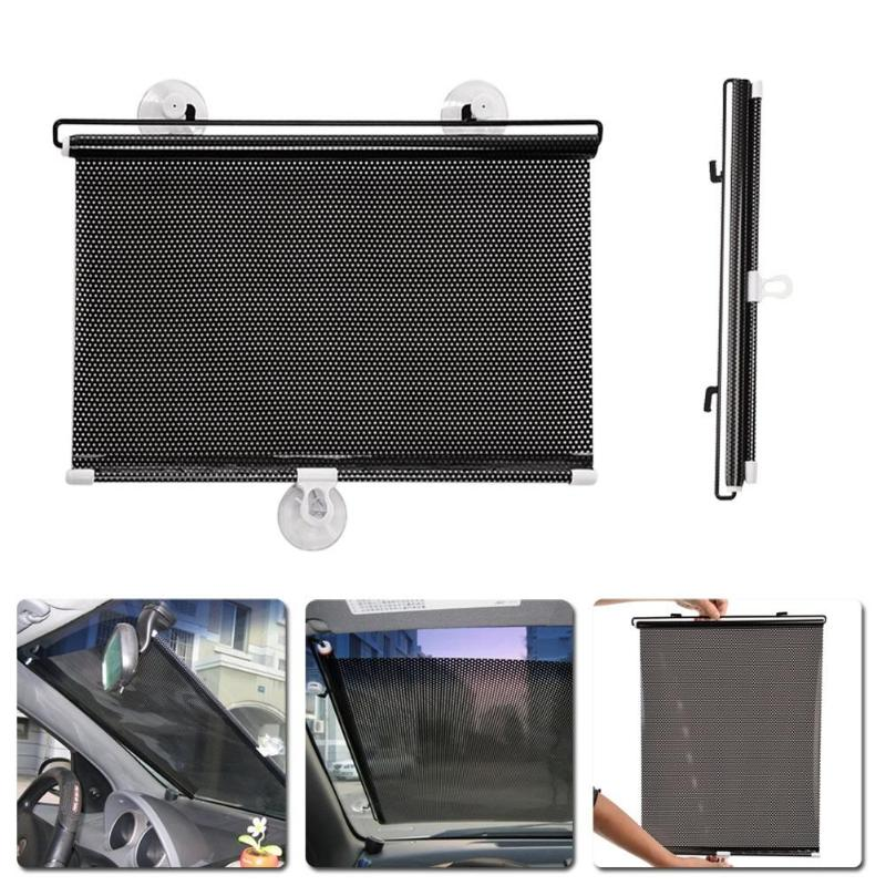 40x60cm Retractable Car Auto Side Window Sun Shade Curtain Windshield Sunshade Shield Cover Mesh Solar Protect Front Windshield citall 68 x125cm car side retractable windshield window sunshield visor sun shade curtain for vw ford audi honda toyota kia jeep