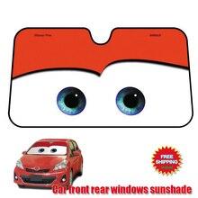 130X70cm Car Sunshade red Sun Shade Windshield Visor Cover Front Rear Window UV Protection Shield Film Reflective Car Styling reflective car windshield sun shield heat shade silver