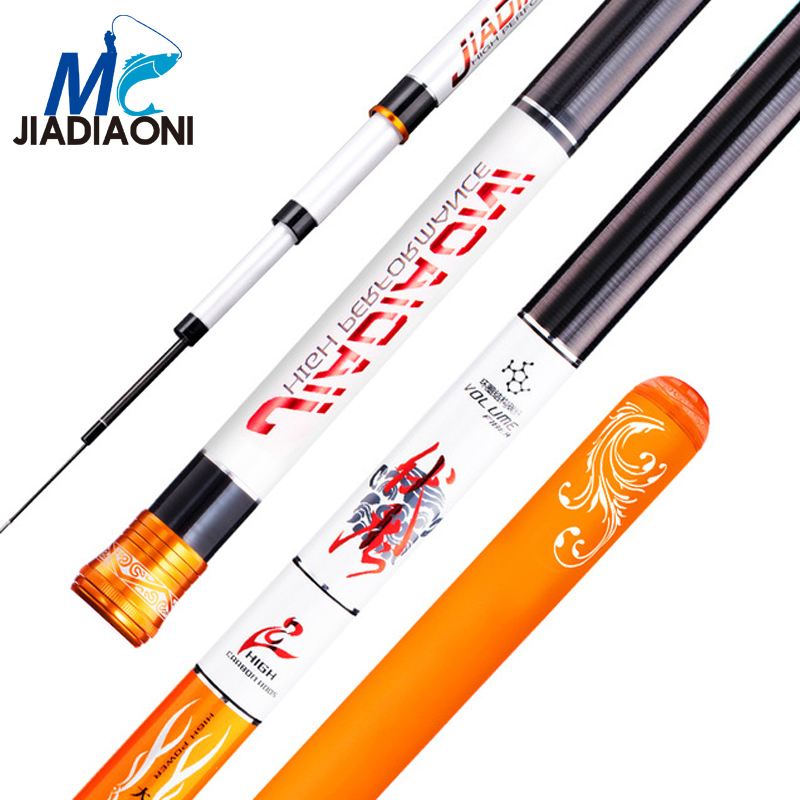 JIADIAONI 28 Tonal 4.5m/5.4m/6.3m/7.2m Carbom Fiber Taiwan Fishing Rod Telescopic Fly Carp Fishing Pole Fishing Tackle jiadiaoni carbon fiber 3 6m 4 5m 5 4m 6 3m long telescopic spinning carp fishing rod ice fly fishing fishing rod fishing tackle