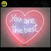 You Are The Best Heart Neon Sign charming Handmade neon light Decorate Home Bedroom Iconic Art Neon Lamps adorn lamp Artwork