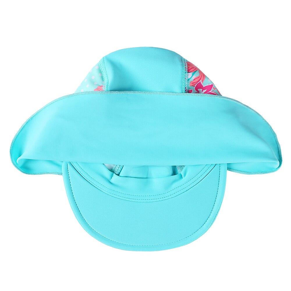 BAOHULU Cute Cyan Print Swimming Cap Children Summer Baby Sun Protection Swim Hats Waterproof for Girls Kids Outdoor Sports Hat Islamabad