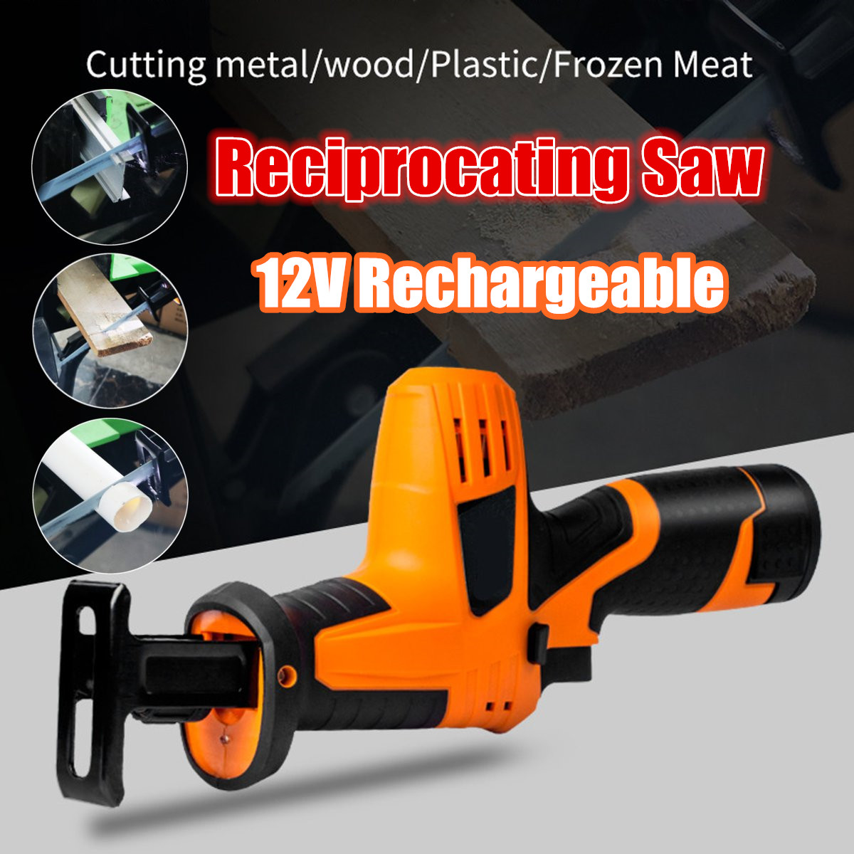 цена на Portable 12V Reciprocating Saw Powerful Wood Cutting Saw Electric Wood/ Metal Saws With Blade Woodworking Cutter