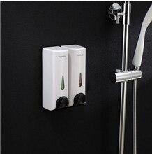 Мода большой емкости дважды глава 350 мл * 2 жидкое мыло Dispensers душа / шампунь / лосьон кондиционера мыла