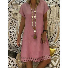 Free Ostrich 2019 Women Summer Style Feminino Vestido T-shirt Cotton Casual Plus Size Ladies Dress C