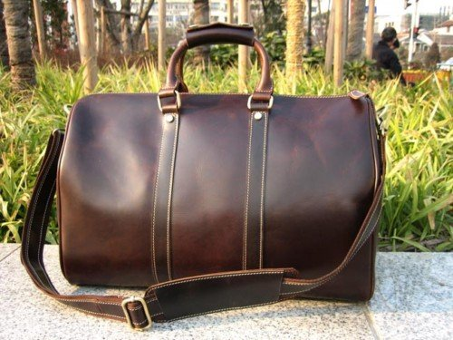 18 New Men S Women Real Leather Travel Bag Duffle Weekend Luggage Shoulder Carry On In Bags From Aliexpress Alibaba