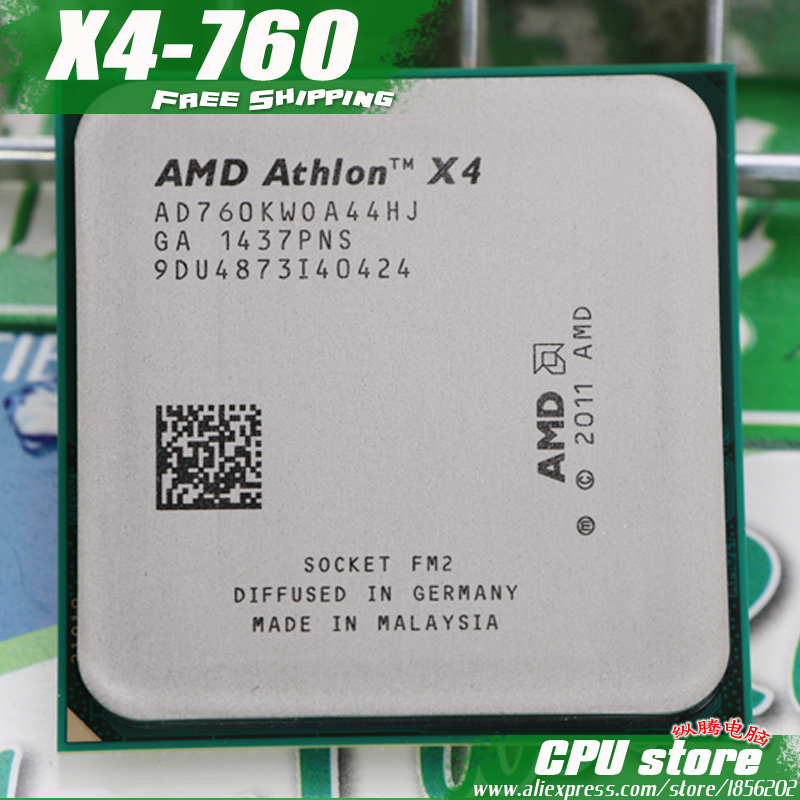 AMD Processor-Pieces CPU FM2 760K 750K X4 X4-760 Quad-Core 4MB Sell Are Working-100%-There