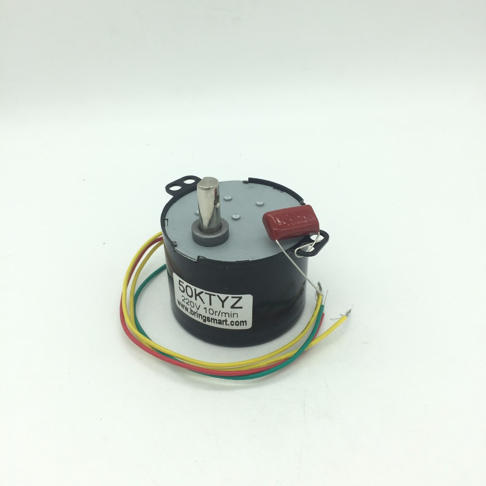 50KTYZ 220V AC Permanent Magnet Synchronous Motors, Reversible Synchronous Motor,Gear Motor 220v With Low RPM AC Motor 6-10W