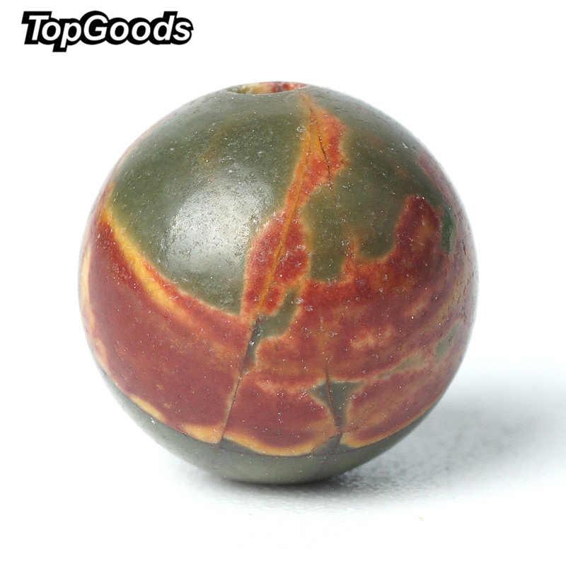 TopGoods Hạt Đá Tự Nhiên Màu Đỏ Picasso Jasper Đá Quý Vòng Loose Đá Quý Bead 6/8/10mm Dòng Màu Xanh Lá Cây ngọc Đối Với Người Hồi Giáo Mân Côi Hạt