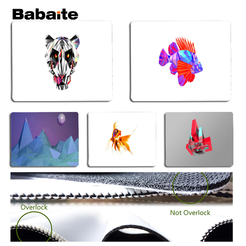 Babaite Vintage Cool Cool and abstract Laptop Gaming Mice Mousepad Size for 18x22cm 25x29cm Rubber Mousemats
