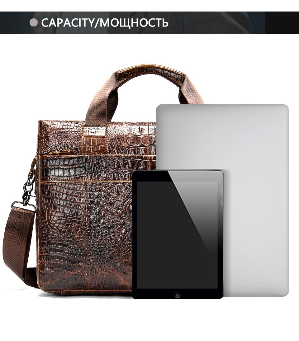 HTB1oa2tXlKw3KVjSZTEq6AuRpXaV MVA Male briefcase/Bag men's genuine leather bag for men leather laptop bags office bags for men Crocodile Pattern handbag 5555