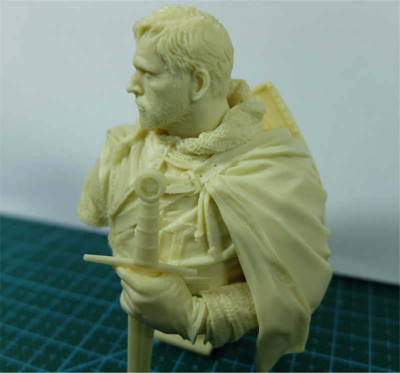 Resin 1/10 Bust Model Kit Figure Perang Kuno Film Templar Dicat X05