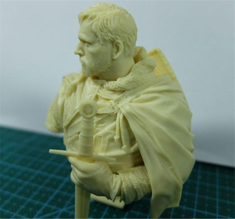 1/10 Resin Bust Model Kit Figure Ancient War Movie Templar Unpainted X05