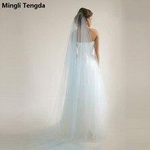 Свадебная вуаль длиной 3 метра с гребнем цвета слоновой кости/белого цвета элегантные свадебные аксессуары Velos De Novia voile de mariee
