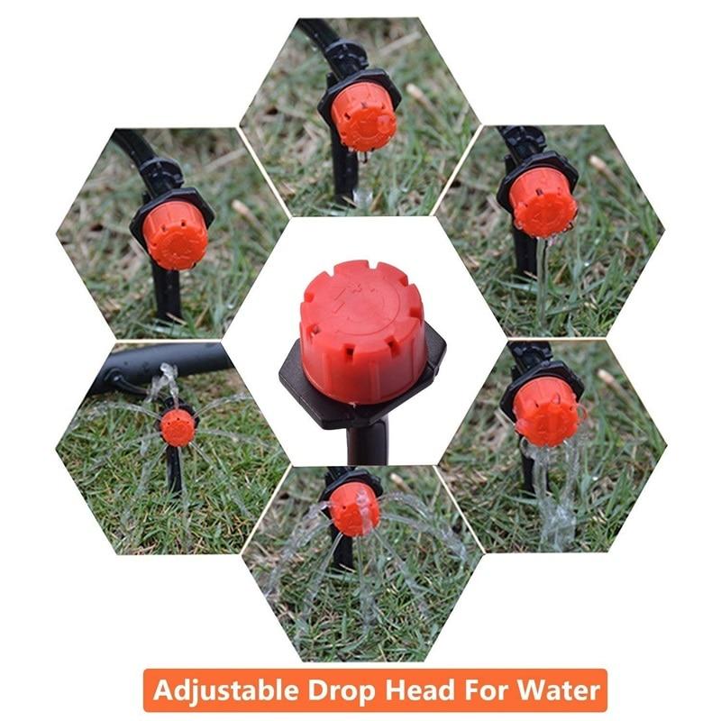 HTB1oa2zLmzqK1RjSZFLq6An2XXa4 200Pcs Adjustable Micro Drip Irrigation System Watering Sprinklers Anti-clogging Emitter Dripper Red Garden Supplies