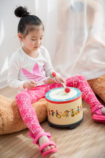 20*20 CM solo original de Corea del bebé tambor juguetes de los niños de fondo contra el ritmo tambor música de la primera infancia Instrumento Musical