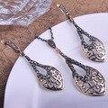 2015 frete grátis Bijoux Top Selling de moda real Jewellry define colar de pingente brincos Anti prata turco Joyas Collares
