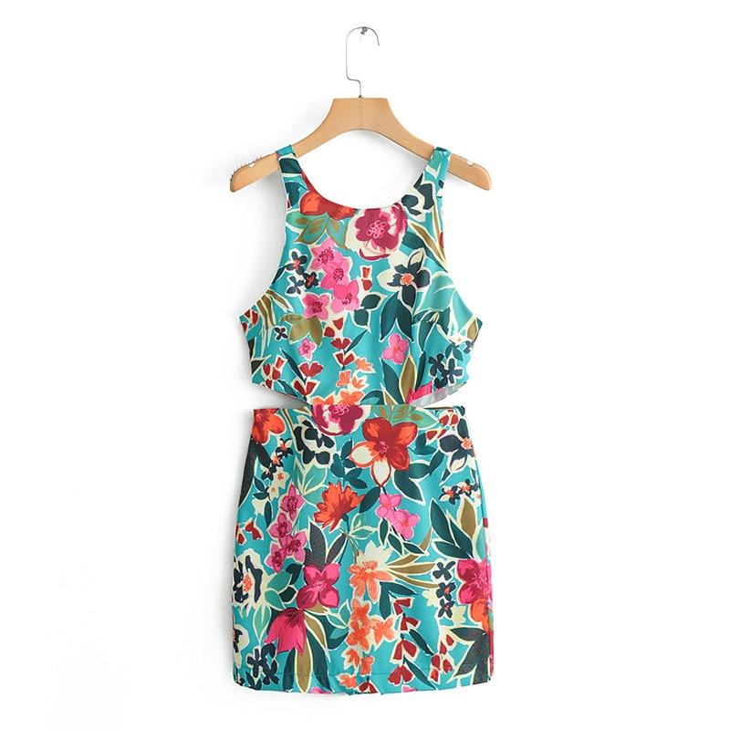 Lily White Two Tone Floral Jumpsuit M L GS