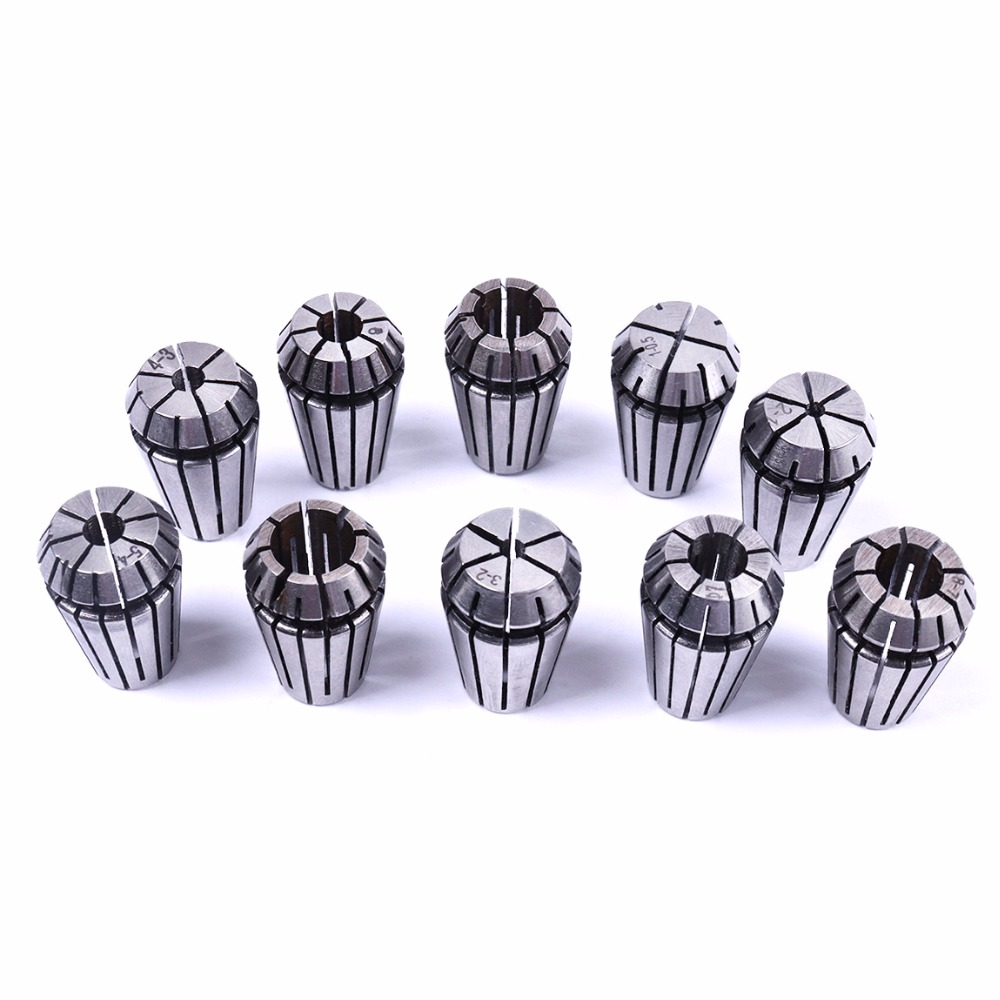 AU Australia Warehouse 10PCS ER16 0.5-10mm Precision Spring Collet Tool For CNC Engraving Milling Drilling Lathe Tool hot 10pcs lot er16 1 10mm spring collet set for cnc milling machine engraving lathe tool vec57 t30