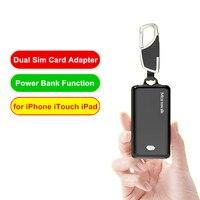 Портативный bluetooth-адаптер с двумя sim-картами для iPhone XS Max XR X Morecard адаптеры для iPhone 6 6 S 7 8 Plus функция power Bank