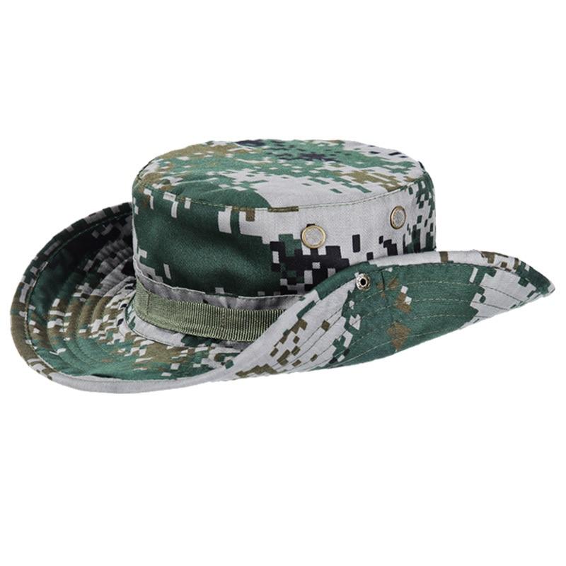 Sun Rainproof Army Hat Camouflage Hat Rider Cowboy Western Cap Montana Travel Sunhat Round Hats Jungle Combat Real CS