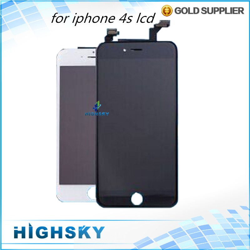 1 Piece Black and White For iPhone 4s LCD Display With Touch Screen Digitizer Assembly Replacement Digitizer Replacement Parts