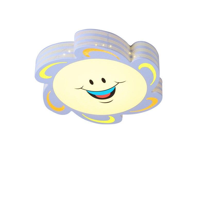 Novelty Hollow Out Iron Lamp Body Cute Lovely Sun Smile Cartoon Led Ceiling Light Fixtures Kids Bedroom Nursery Lighting