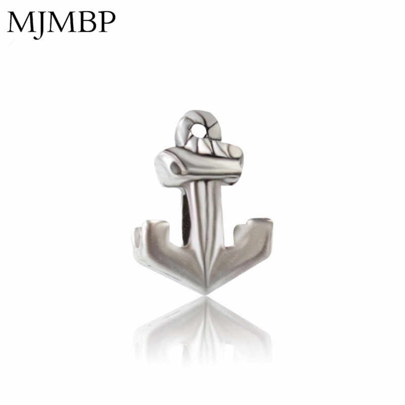 New Retro Metal Anchor DIY Charms Nice Vintage Beads Fit Pandoraa Gift For Bracelet & Necklaces Jewelry making Women Gifts