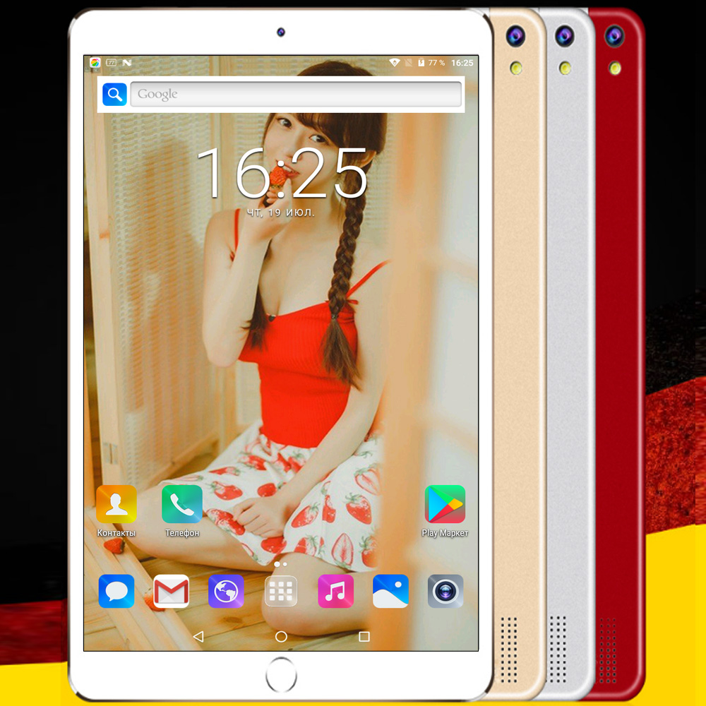 10.1 Inch BDF Tablet Pc Android 7.0 4GB +64GB Octa Core 2G 3G 4G LTE Phone Call Sim Card Mini Pad Pc 1920 *1200 IPS LCD 5Mp